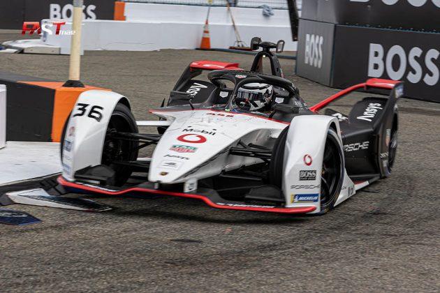 André Lotterer (Porsche) durante la Carrera 1 del ePrix de Nueva York de Fórmula E (FOTO: Arturo Vega para FASTMag)