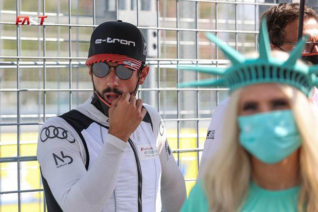 Lucas di Grassi (Audi Sport) antes de la Carrera 1 del ePrix de Nueva York (FOTO: Arturo Vega para FASTMag)
