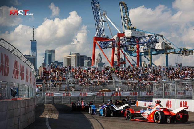 Acción de la Carrera 1 del ePrix de Nueva York de Fórmula E (FOTO: Arturo Vega para FASTMag)