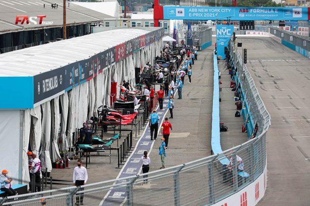 Paddock y fosos de la Fórmula e antes de la Carrera 2 del ePrix de Nueva York (FOTO: Arturo Vega para FASTMag)