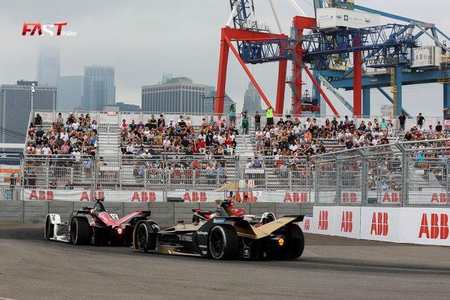 Acción de la Carrera 2 del ePrix de Nueva York de Fórmula E (FOTO: Arturo Vega para FASTMag)