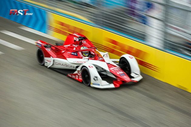 Joel Eriksson (Dragon/Penske Autosport) durante la Carrera 2 del ePrix de Nueva York de Fórmula E (FOTO: Arturo Vega para FASTMag)