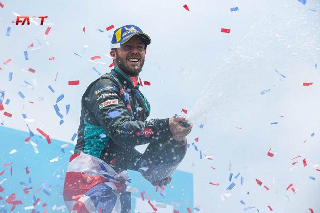 Sam Bird (Jaguar Racing), ganador de la Carrera 2 del ePrix de Nueva York (FOTO: Arturo Vega para FASTMag)