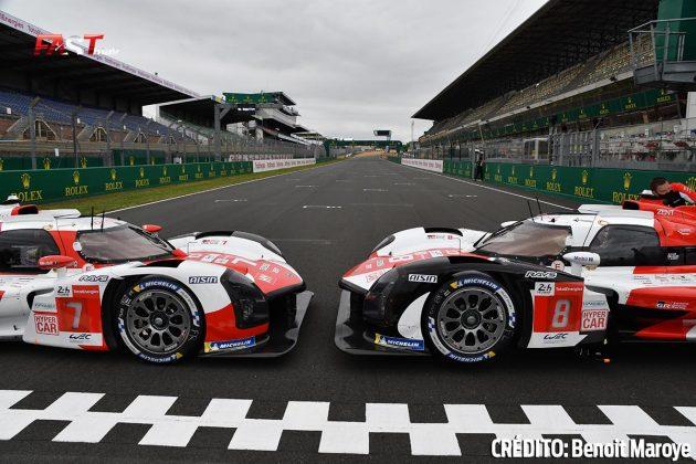 """Los Hiperautos Toyota GR010 Hybrid en los preparativos de la 89º edición de las """"24 Horas de Le Mans"""" (FOTO: Benoit Maroye para FASTMag)"""
