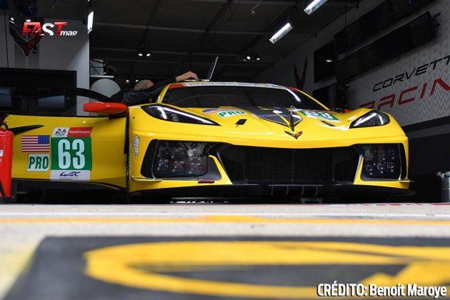 """El Corvette C8.R No. 63 de GTE Pro, de Antonio García, Jordan Taylor y Nick Catsburg, en los preparativos de la 89º edición de las """"24 Horas de Le Mans"""" (FOTO: Benoit Maroye para FASTMag)"""
