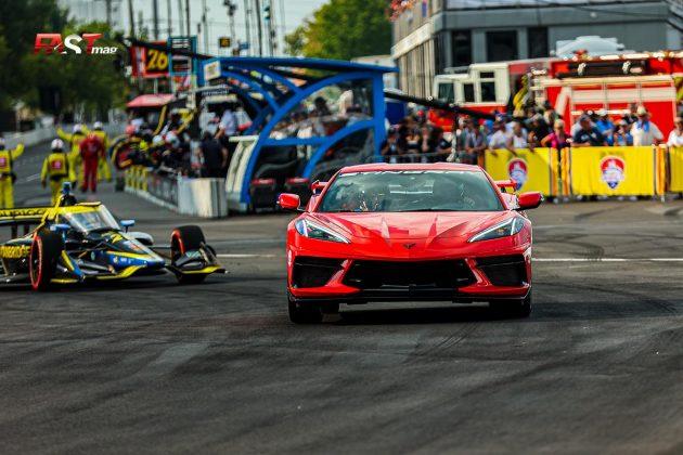 El Auto de Seguridad de IndyCar, conducido por Oriol Serviá, durante el Music City Grand Prix de la IndyCar en las calles de Nashville (FOTO: Arturo Vega para FASTMag)