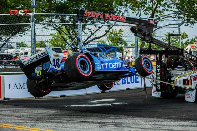 El auto de Jimmie Johnson, piloto del No. 48 de Chip Ganassi Racing, en el Music City Grand Prix de la IndyCar en las calles de Nashville (FOTO: Arturo Vega para FASTMag)