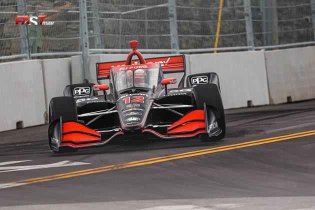 Will Power, piloto del No. 12 de Team Penske, durante las prácticas de viernes de la IndyCar en Nashville (FOTO: Arturo Vega para FASTMag)