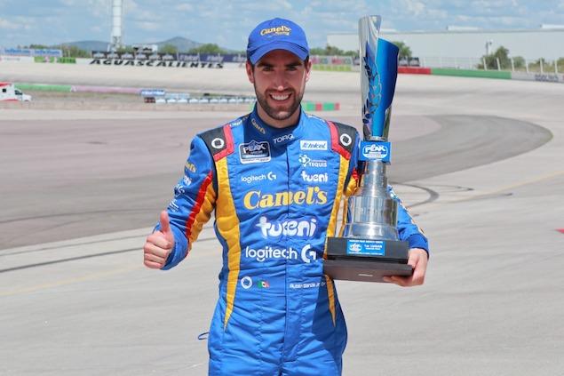 Rubén García Mateos gana en Aguascalientes (FOTO: NASCAR México)