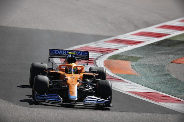 Lando Norris, en la pole del GP de Rusia (FOTO: McLaren Media Centre)