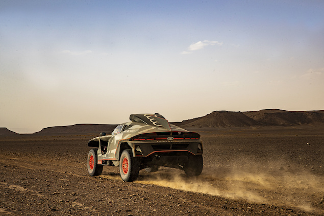 Pruebas de Audi RS Q e-tron en Marruecos rumbo al Dakar (FOTO: Audi Sport)