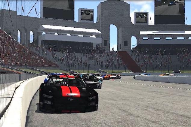 Simulación virtual en el Estadio Coliseo de Los Ángeles (FOTO: NASCAR/iRacing)